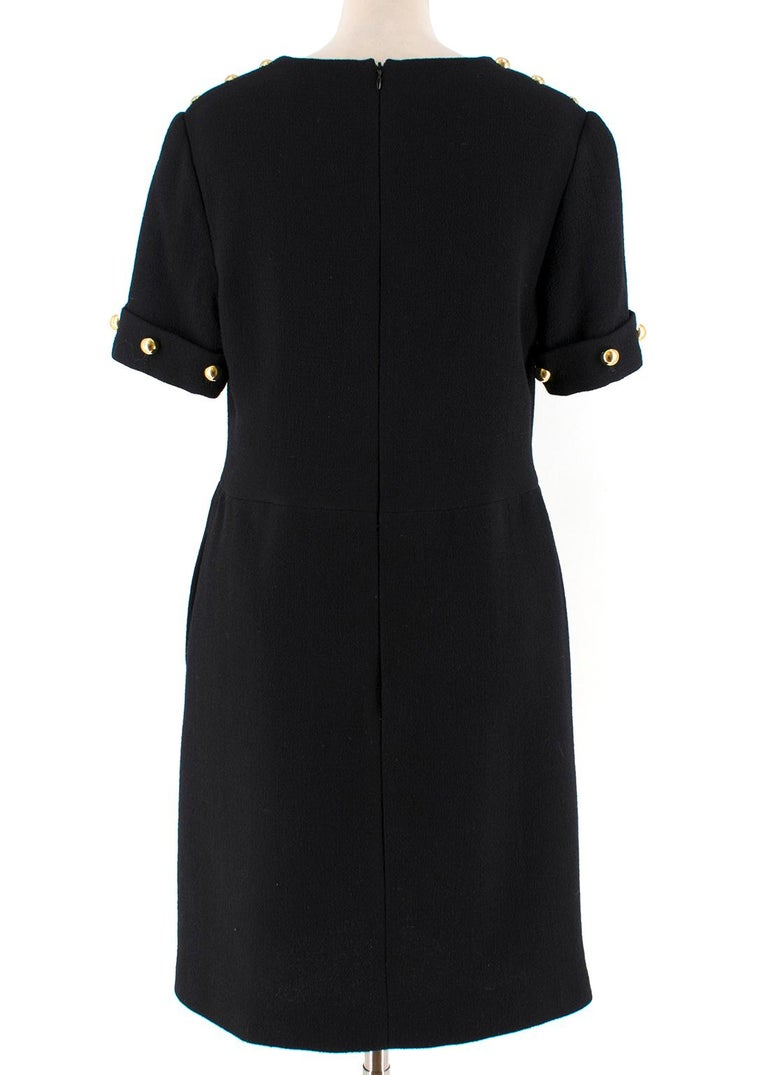 3.1 Phillip Lim Black Studded Sleeve Dress US 8 In Good Condition For Sale In London, GB
