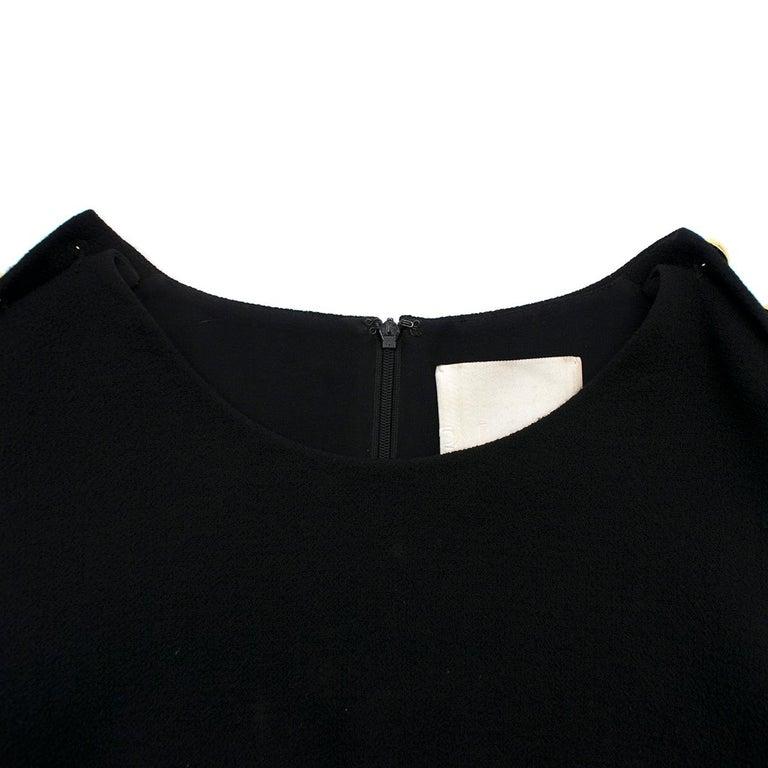 3.1 Phillip Lim Black Studded Sleeve Dress US 8 For Sale 1