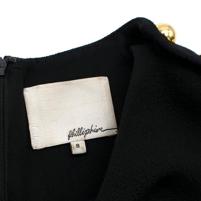 3.1 Phillip Lim Black Studded Sleeve Dress US 8 For Sale 2