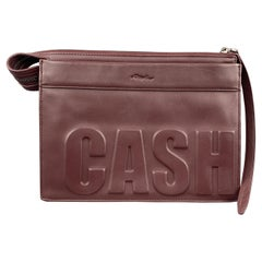 3.1 PHILLIP LIM Burgundy Leather CASH ONLY Clutch Handbag