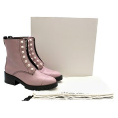 3.1 Phillip Lim Hayett faux pearl-embellished leather combat boots 41