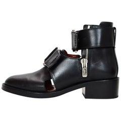 3.1 Phillip Lim Leather Addis Cutout Booties W/ Strap Sz 36