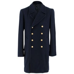 3.1 Phillip Lim Navy Wool Double Breasted Coat  SIZE M