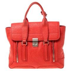 3.1 Phillip Lim Orange Leather Medium Pashli Satchel