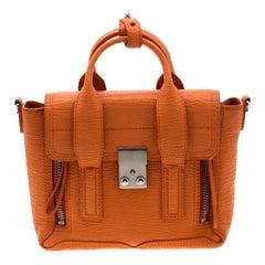 3.1 Phillip Lim Orange Leather Mini Pashli Top Handle Bag