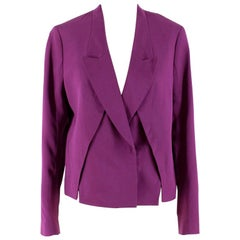 3.1 Phillip Lim Orchid Front Panel Slits Cropped Jacket US 6