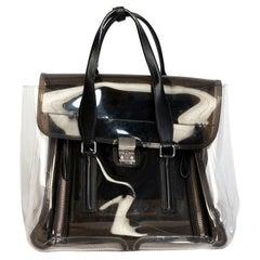 3.1 Phillip Lim Pashli Clear & Black Satchel Bag