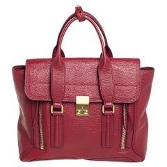 3.1 Phillip Lim Red Leather Medium Pashli Satchel