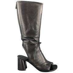3.1 PHILLIP LIM Size 9 Black Leather Open Toe Sandal Boots
