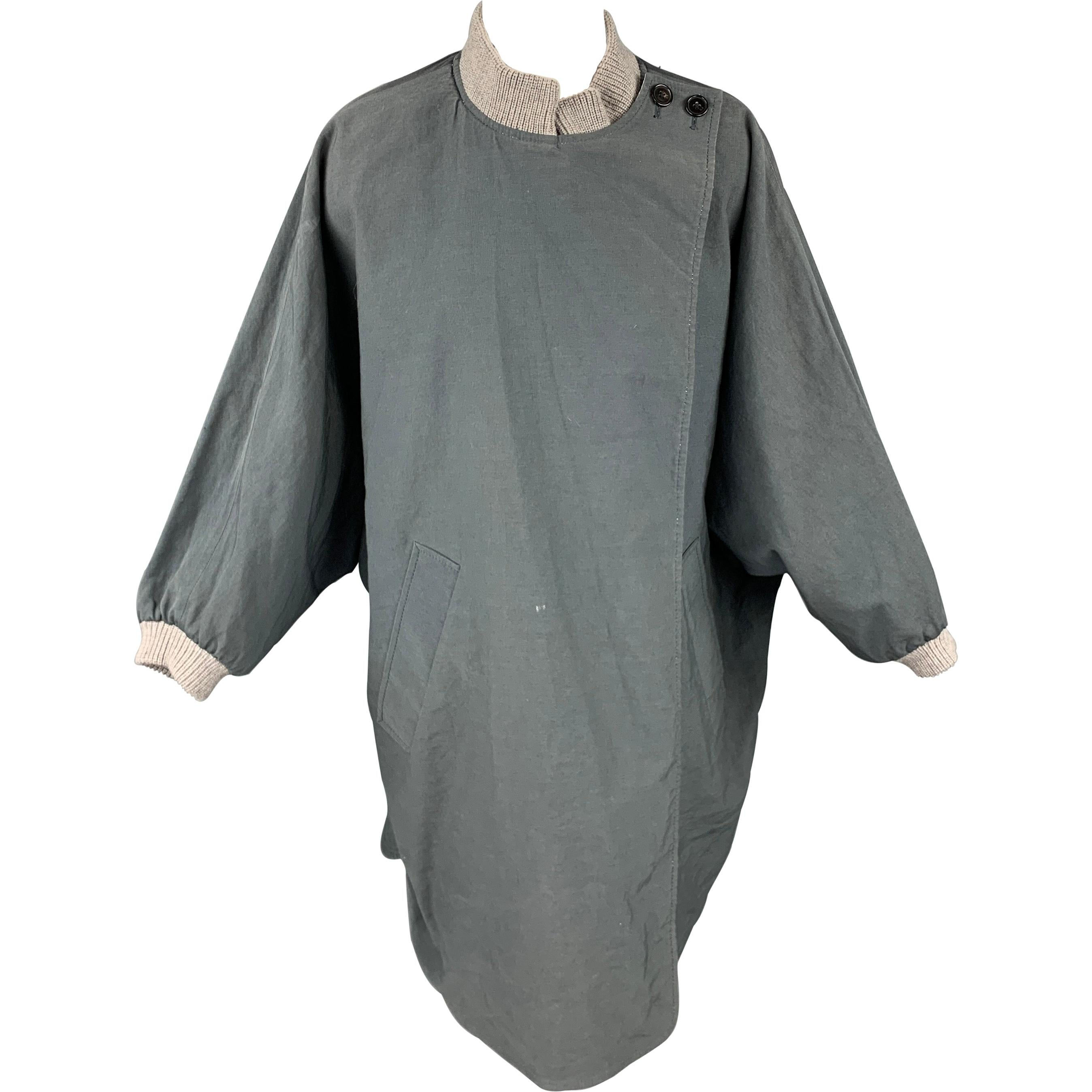 3.1 PHILLIP LIM Size M Gray & Beige Cotton Blend Oversized Reversible Jacket