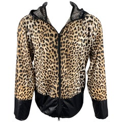 3.1 PHILLIP LIM Size S Tan Leopard Print Polyester Windbreaker Jacket
