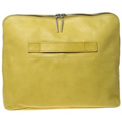 3.1 Phillip Lim Yellow Leather 31 Minute Portfolio Clutch Bag
