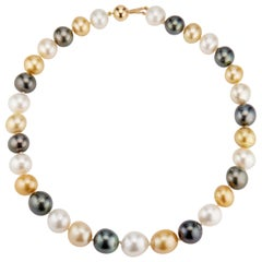 31 South Sea Multicolor Cultured Pearl Necklace