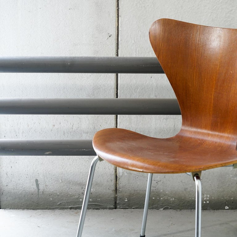 Laminated 3107 Series 7 Chair by Arne Jacobsen for Fritz Hansen, Denmark For Sale