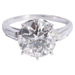 3.13 Carat Diamond Solitaire Engagement Ring
