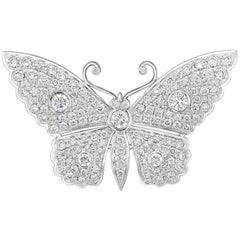 3.14 Carat Diamond Butterfly Pin