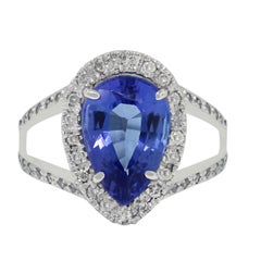 3.14 Carat Tanzanite Diamond Ring