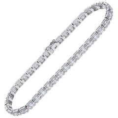 3.15 Carat Diamond Bracelet White Gold 18 Karat