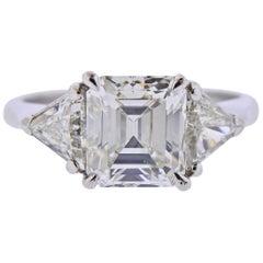 3.15 Carat I VS1 Diamond Platinum Engagement Ring