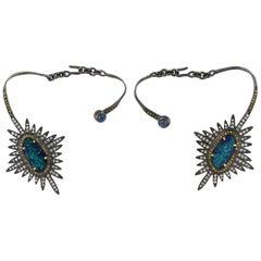3.15 Carat Opal Starburst Diamond Ear Cuff