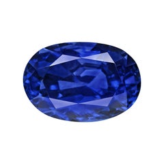 3.17 Carat Oval Natural Kashmiri GRS Certified Blue Sapphire