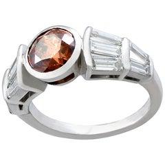 3.19 Carat Diamond and White Gold Dress Ring