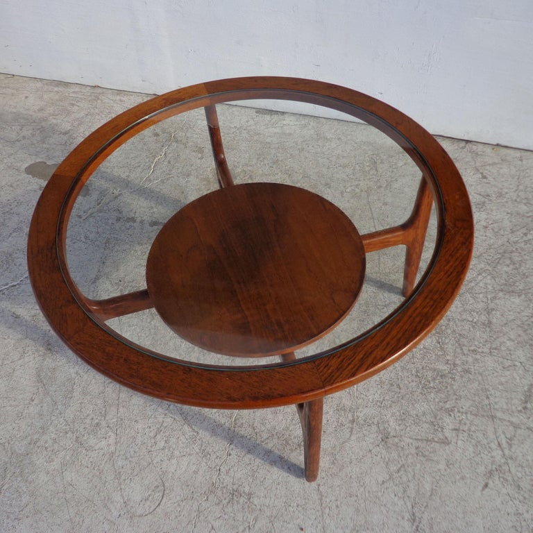 European Mid Century 2-Tier Coffee Table For Sale