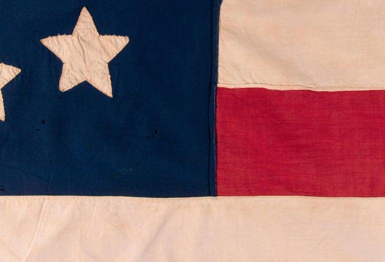 Mid-19th Century Antique American Flag, 32 Stars, Minnesota Statehood, ca 1858-59 For Sale