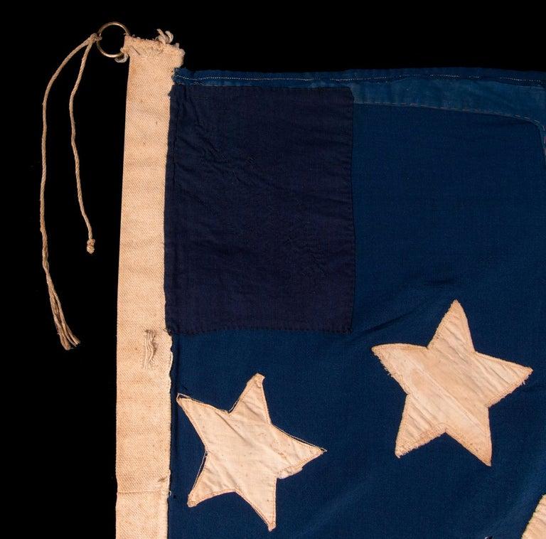 Cotton Antique American Flag, 32 Stars, Minnesota Statehood, ca 1858-59 For Sale
