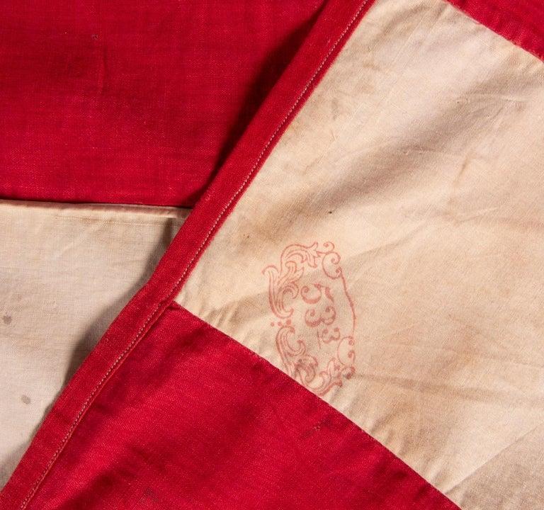 Antique American Flag, 32 Stars, Minnesota Statehood, ca 1858-59 For Sale 3