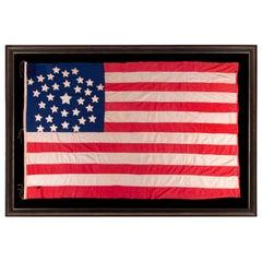 Antique American Flag, 32 Stars, Minnesota Statehood, ca 1858-59