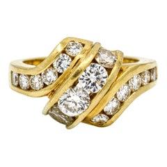 3.20 Carat 18 Karat White Gold Diamond Statement Ring