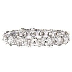 3.20 Carat Diamond 18 Karat Solid White Gold Ring