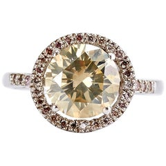 3.20 Carat Diamond Engagement Ring with a Halo