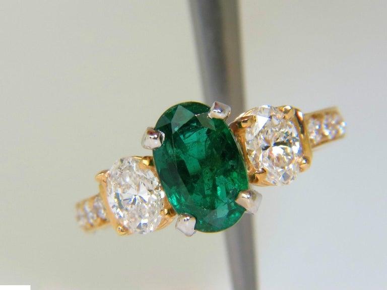 3 20 Carat Natural Emerald Diamond Ring Classic 3 14 Karat