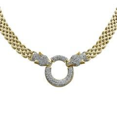 3.20 Carat Panther Necklace and Bracelet Set