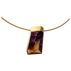 32.09 Carat Amethyst-Citrine Gold Necklace by Atelier Munsteiner