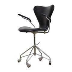 '3217' Swivel Desk Chair by Arne Jacobsen for Fritz Hansen, Denmark, 1955