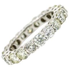 3.23 Carat 14 Karat White Gold Diamond Eternity Band Ring