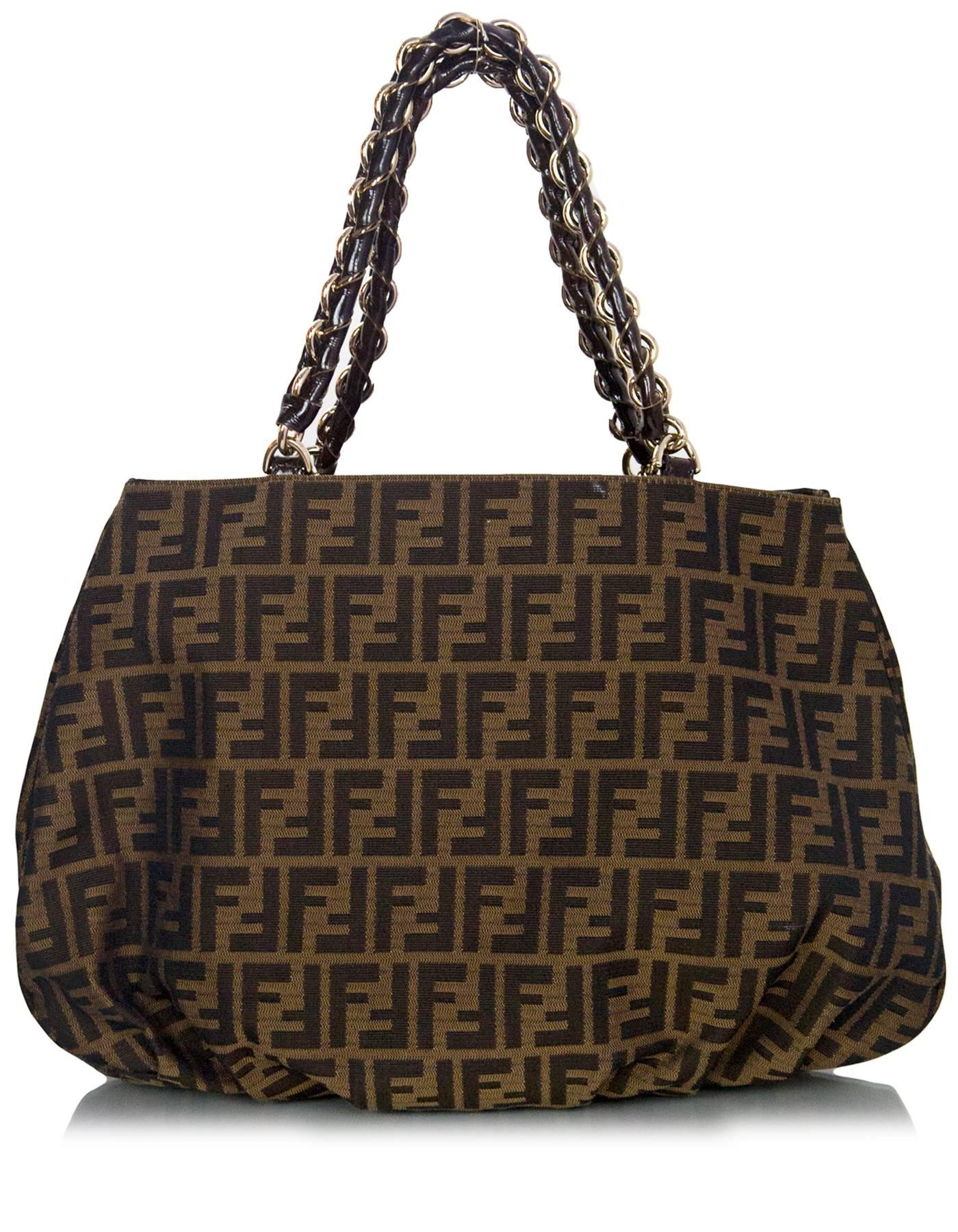 5b2f2b2fb809 czech black fendi tobacco brown zucca borsa mia tote bag for sale cbac9  28ff3