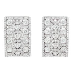 Chatila 3.24 Carat Diamond and White Gold Earrings