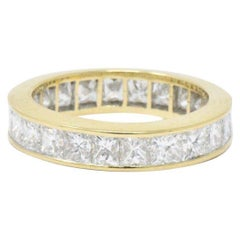 3.25 Carat Diamond and 18 Karat Yellow Gold Eternity Band Ring