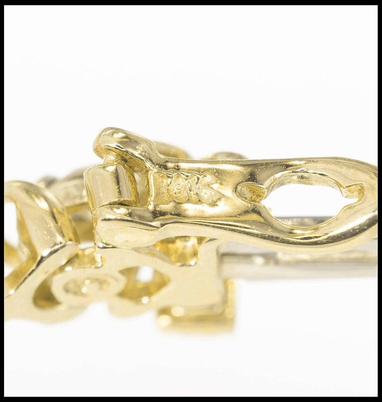 Round Cut 3.25 Carat Diamond Yellow Gold Tennis Bracelet For Sale