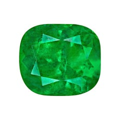 3.28 Carat Cushion Natural Colombian GRS Certified Emerald