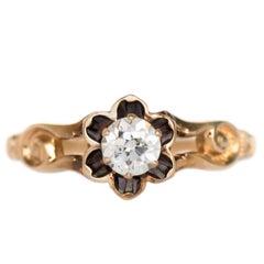 .33 Carat Diamond Yellow Gold Engagement Ring