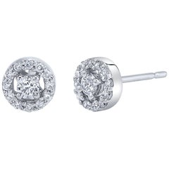 .33 Carat Diamond 18 Karat White Gold Stud Earrings