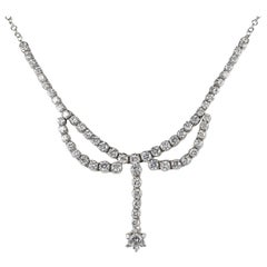 3.30 Carat Diamond F G VVS Glamour of the 1950s Necklace