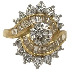 3.30 Carat Total Weight Diamond Fashion Ring in 18 Karat Yellow Gold