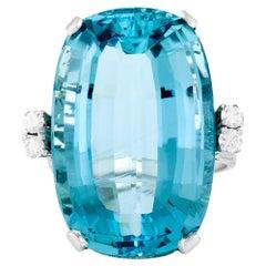 33.00 Carat Retro Aquamarine Ring