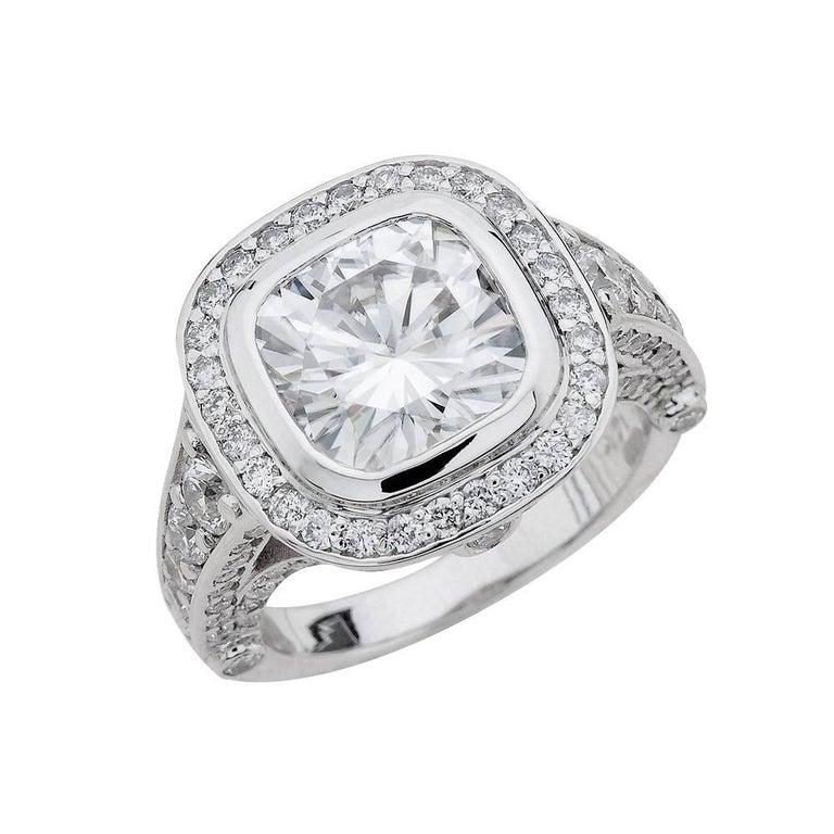 Black Moissanite Ring For Sale
